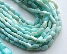 Peruvian Blue Opal Beads Blue Opal Twisted by gemsforjewels