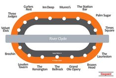 We've reimagined the Glasgow subway map, replacing the name of each station with the nearest pub for a pint.