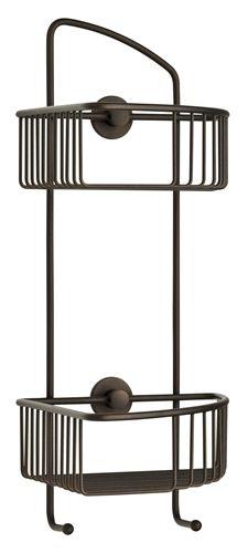 Wonderful Premium Rustproof, Oil Rub Bronze Double Corner Shower Caddy With The Nie  Wieder Bohren No