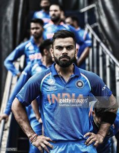 Virat Kohli captain of India waits to lead his team out against Pakistan ahead of the ICC CHampions Trophy match between India and Pakistan at. Wold Cup, Cricket Quotes, Virat Kohli Wallpapers, Player Quotes, Virat And Anushka, Cricket Wallpapers, Champions Trophy, Football Gif, We Will Rock You