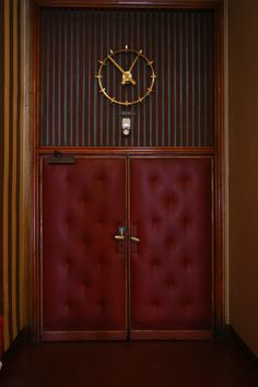 Film and Photo Shoot Locations in Austria: Screening Room Door with Clock, Filmcasino Room Screen, Famous Art, Room Doors, Vienna, Austria, Photo Shoot, Art Deco, Clock, Film