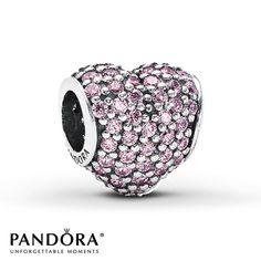 Pandora Charm Pink CZ Sterling Silver