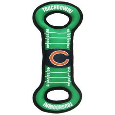 Chicago BEARS  Official NFL Football Field (Green) Squeaker Tug'n Chew Toy