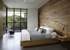 Dormitorio moderno en madera