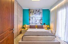 Уютная спальня в бирюзовых тонах