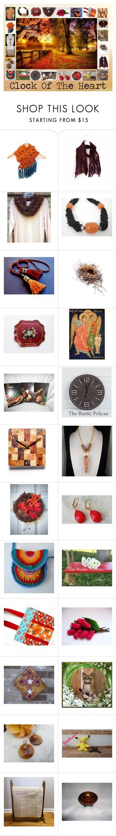 """""""Clock of the Heart: Handmade & Vintage Gift Ideas"""" by paulinemcewen on Polyvore featuring interior, interiors, interior design, home, home decor, interior decorating, rustic, vintage and country"""