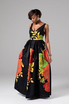 ANGELINA African Print Womens Sweetheart Maxi Dress With Mesh Detail #AfricanDress #AfricanMaxiDress #WhiteFloralAfricanPrintDress #LaviyeDress #Laviye #Summer2018Styles #Summer2018Fashion #AfricanFashion #AfricanPrint #BlackPanther #Wakanda