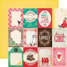 Echo Park Jack & Jill: Jill Collection: 3X4 Journaling Cards