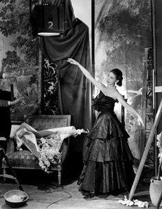 Prima ballerina assoluta, Margot Fonteyn is wearing an evening dress by Bianca Mosca of London, 1949, Beaton.