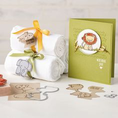 A Little Wild Clear-Mount Bundle - adorable two-sided lion, elephant and bear images - Stampin' Up!