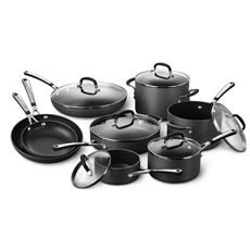 Simply Calphalon® Nonstick 14-Piece Cookware Set.  I actually have these and LOVE THEM! Without question THE best pots and pans I've ever owned.