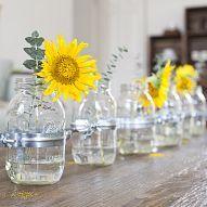 DIY mason jar vase centerpiece