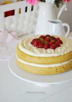 Layer Cake SALUDABLE   SIN MICRO, SIN HORNO Y SUPER DELICIOSO! clic en la foto para ver la receta! #postres