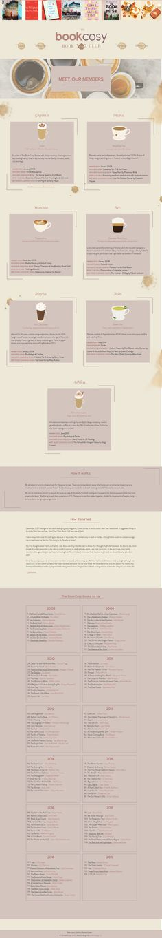 The BookCosy Book Club – Brand & Website Reveal Website Layout, Website Ideas, Website Design Inspiration, Neutral Colour Palette, Book Club Books, Infographics, Branding, Infographic, Web Layout