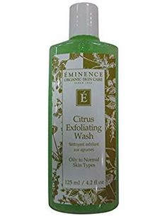 Eminence Citrus Exfoliating Wash, Ounce *** You can find out more details at the link of the image. (This is an affiliate link) Eminence Organics, Normal Skin, Facial Skin Care, Organic Skin Care, Perfume Bottles, Fragrance, Skincare, Link, Image