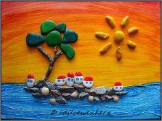 Pebble Island  von idiloewenherz, inspired by Michaela Bufalini http://www.gigarte.com/quadridipietra/home