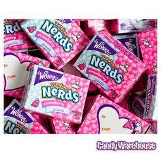 Pink & White Nerds Candy Packs: 36-Piece Bag