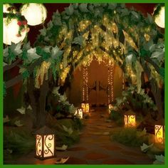 An Enchanted Forest Prom theme is the hottest choices for this year's Prom. Here are all the essentials you'll need to create an amazing Enchanted Forest theme. Enchanted Forest Prom, Enchanted Forest Decorations, Enchanted Garden, Enchanted Evening, Enchanted Forest Bedroom, Jungle Theme Decorations, Tree Decorations, Secret Garden Theme, Secret Garden Parties