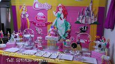 Decoración princesas Raspúnzel, Ariel, Disney