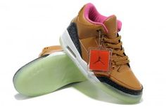 dd64dec20c0 Retro Air Jordan 3 Glowing Mens Footlocker Brown Pink Athletic Shoes Buy  Jordans