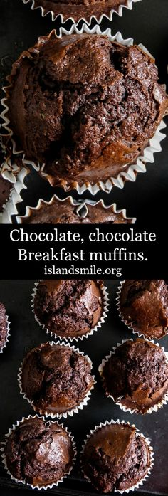 chocolate I muffins I breakfast I easy I fluffy I soft.chocolate I muffins I breakfast I easy I fluffy I soft. Chocolate,chocolate Breakfast muffins are airy and a chocolate lover's dream of what breakfast should look Muffin Recipes, Baking Recipes, Dessert Recipes, Desserts, Easy Recipes, Chocolate Muffins Moist, Chocolate Chip Cookies, Chocolate Muffin Recipe Easy, Choc Muffins