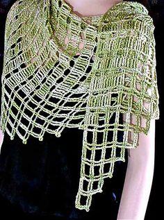 Ravelry: Aero Tunisian Filet Lace Wrap pattern by Vashti Braha