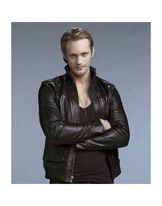 True Blood Alexander Skarsgard Eric Northman Black-leather jacket sale in  UK.special discount offer