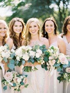 Rose and eucalyptus wedding bouquets | Photography:  Hannah Mayson