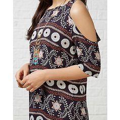 #ARKLOVES The cold shoulder trend: Hearts and Bows Mynx Mosaic Tile Print Cold Shoulder Dress