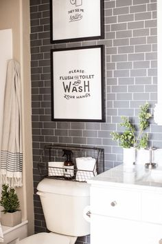 I just finished up the boys bathroom last week and I'm really happy with how it turned out! Thanks to my friends at The Home Depot for proving a few new items like the Everly Collection from Delta and new vanity top for the space it went from builder basic to something special! To finish …
