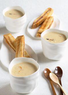 Fingers de chorizo à tremper dans une crème de moule, © Alain Senderens & Jérôme Banctel dans votre cuisine/Flammarion