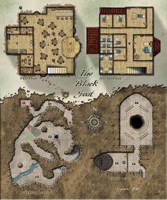 Kencyclopedia - Kender - Cartography -Old Mansion   RPG Maps ...