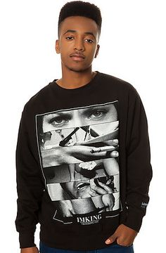 The Vices Crew Fleece in Black by IMKING