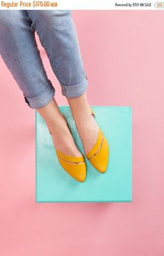 699747d0e1 Items similar to SALE 30% Off // Womens Flats, Handmade Shoes, Flats, Leather  Shoes, Women Shoes, D'orsay Flats, Summer Shoes // Free Shipping on Etsy