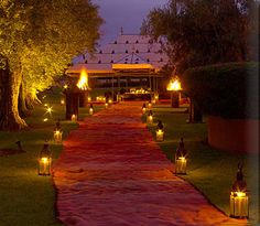 Amanjena - Morocco/that looks like it will be a magical dinner under the Moroccan tent