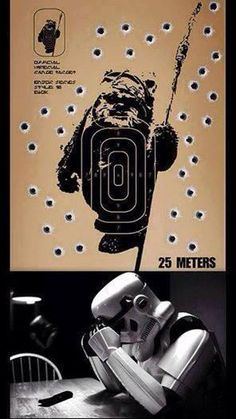 Ever wonder why the stormtroopers always miss their target?