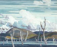 Group of Seven - Franklin Carmichael - Drowned Land Maurice Denis, Paul Cézanne, Edouard Vuillard, Canadian Painters, Canadian Artists, Paul Gauguin, Henri Matisse, Emily Carr Paintings, Franklin Carmichael