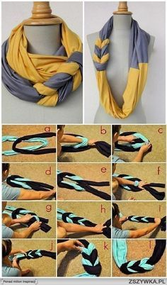 Diy infinity scarves - ideas with old tee shirts. #ahaishopping