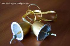 Nespresso pod Christmas bell ornaments