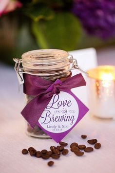 Chicago wedding anniversary in accord with classy wedding favors. Wedding Favors And Gifts, Purple Wedding Favors, Coffee Wedding Favors, Plum Wedding, Edible Wedding Favors, Wedding Shower Favors, Wedding Ideas, Dream Wedding, Coffee Favors