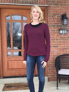 Stitch Fix Review of January 2016 Box | Laila Jadye Cindy Slub Top | My Life From Home | www.mylifefromhome.com