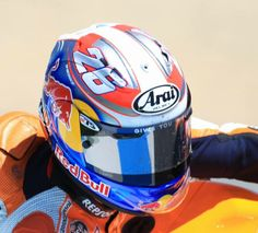 "Arai RX-7 GP Dani Pedrosa Edition ""Dani 26"" - repined by http://www.motorcyclehouse.com/ #MotorcycleHouse"