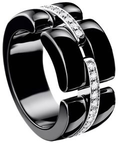 Chanel Ultra Ring - 18kt white gold, black ceramic, diamonds
