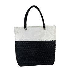 Black&White Net&Velvet Floral Embroidered Design Hand Made Hand Bag Shoulder Bag #ArishaKreation