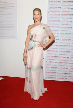 Ali Larter had a totally ethereal moment in this one-shouldered Carolina Herrera gown at the opening night premiere party for the LA Art Show.