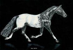 А3, бумага для акварели, тушь, цветные карандаши  #art #coloredpencil #drawing #horse