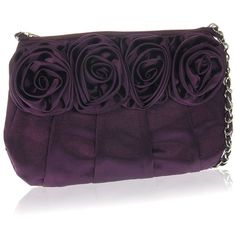 Manumit Fair Trade Burgundy Silk Rose Bag ($46) ❤ liked on Polyvore