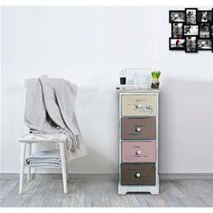 Mobiletto in stile vintage con stampe decorative sui cassetti, linea REBECCA FAMILY.  Ideale per tutti gli ambienti, il giusto mix per donare un tono urban e chic alla vostra casa.  #shabby #chic #furniture #home #house #design #interior #interiors #restyling #style #makeover #vintage #retro #white #wood #beige #grey #tutorial #idea #ideas #diy #black #friday #blackfriday #cyber #monday #cybermonday #sale #sales #sconti #mobili #arredamento #mobiletto #mobiletti #living #room #pink #brown