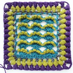 The Kalevala sea crochet square pattern is part of the Kalevala CAL crochet-along. 19 Finnish crochet designers have created the crochet blanket project. Crochet Bunting, Crochet Squares Afghan, Crochet Square Patterns, Crochet Motif, Free Crochet, Knit Crochet, Granny Squares, Knitting Designs, Crochet Designs