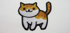 Pumpkin standing - Neko Atsume Sew On Machine Embroidered Patch Kitty collector by JuliefooStitches on Etsy https://www.etsy.com/listing/270467035/pumpkin-standing-neko-atsume-sew-on